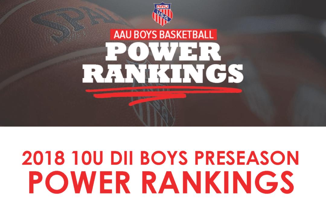 ICE 5th Grade National Team – 1st in 2018 10U DII Boys Preseason Power Rankings
