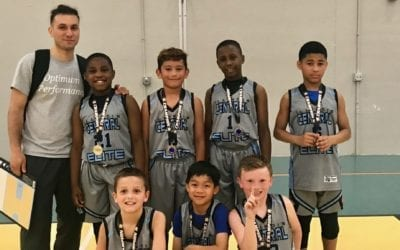 3rd Grade – Champions in 4th Grade Division Of Play Hard Hoops Superstar Challenge Shootout