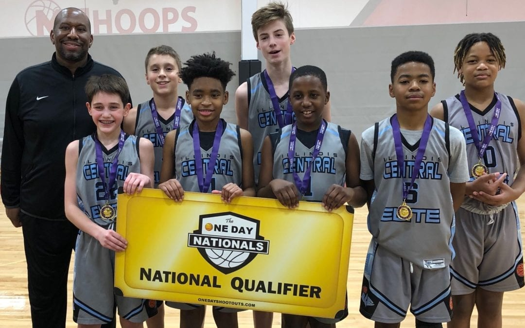 7th Grade Grey Champions in 8th Grade Division in Winter Break One Day Shootout & One Day Shootout National Qualifier