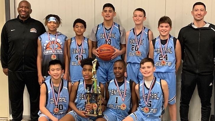 6th Grade Grey Champions Of Gym Rats Basketball 2020 MLK Classic